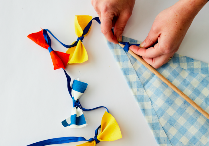 How to make your own kite tie bows